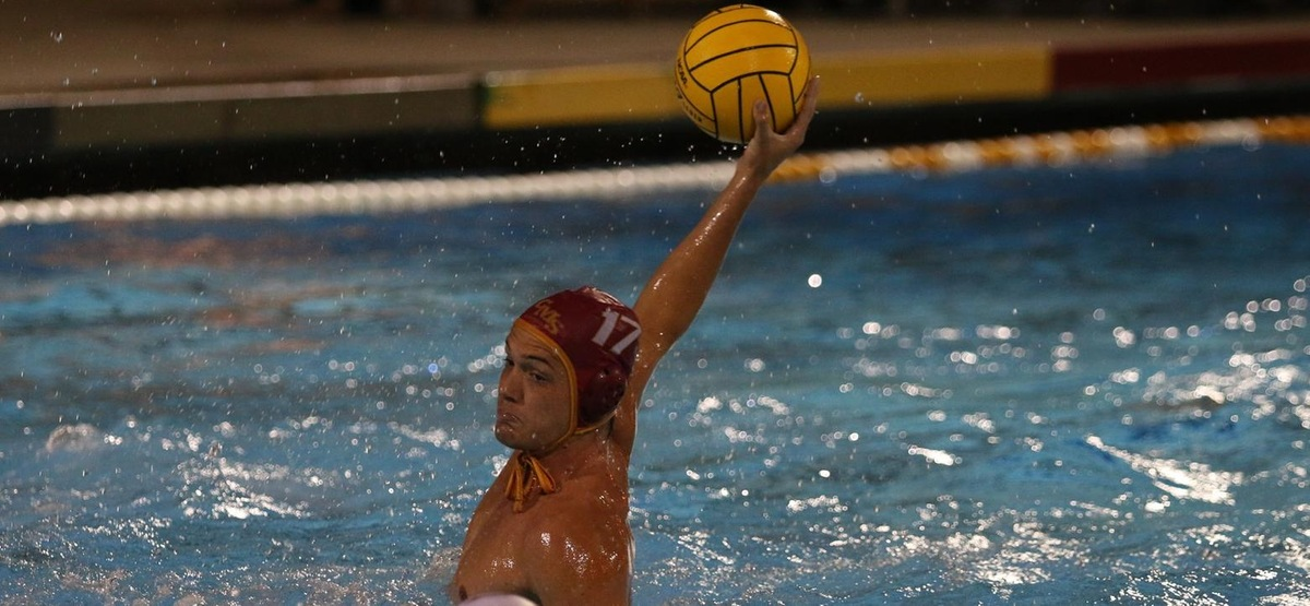 Ethan Lewis Scores with Three Seconds Left to Give CMS Men's Water Polo 6-5 win over Navy