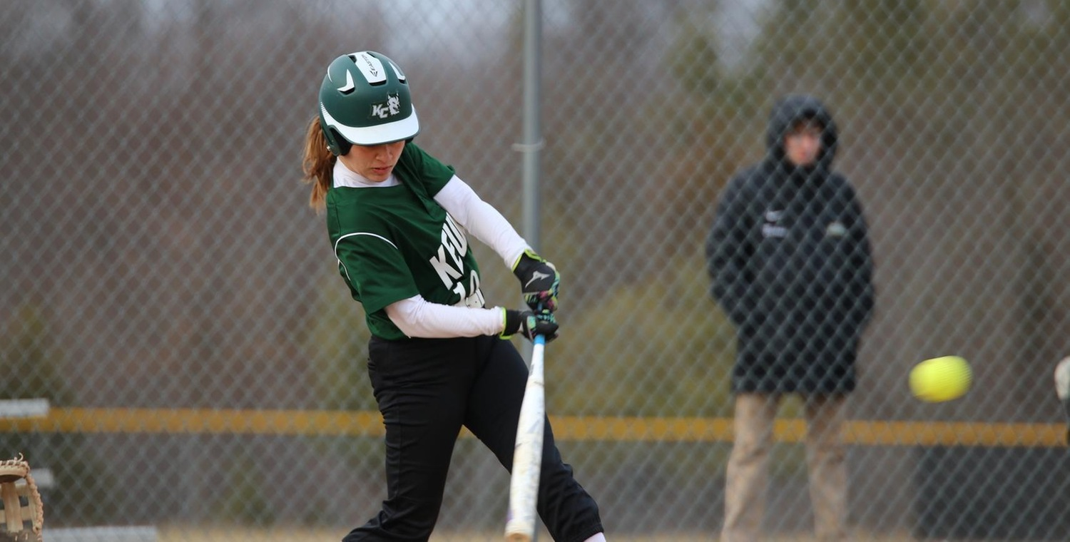 Danielle Bosch (10) had a career-high three hits in game one for Keuka -- Photo by Courtney Gleichauf (3/30/19)