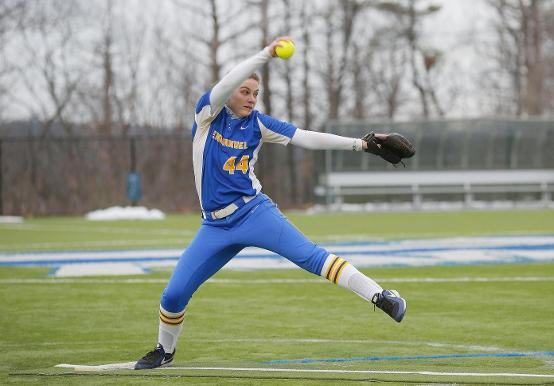 SAINTS SALVAGE SOFTBALL SPLIT WITH SUFFOLK
