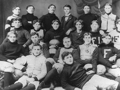 A Ferris State football team from the early 20th century is pictured (date unknown)
