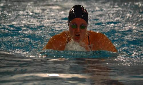 Women's Swimming Closes Regular Season with Pair of CAC Wins