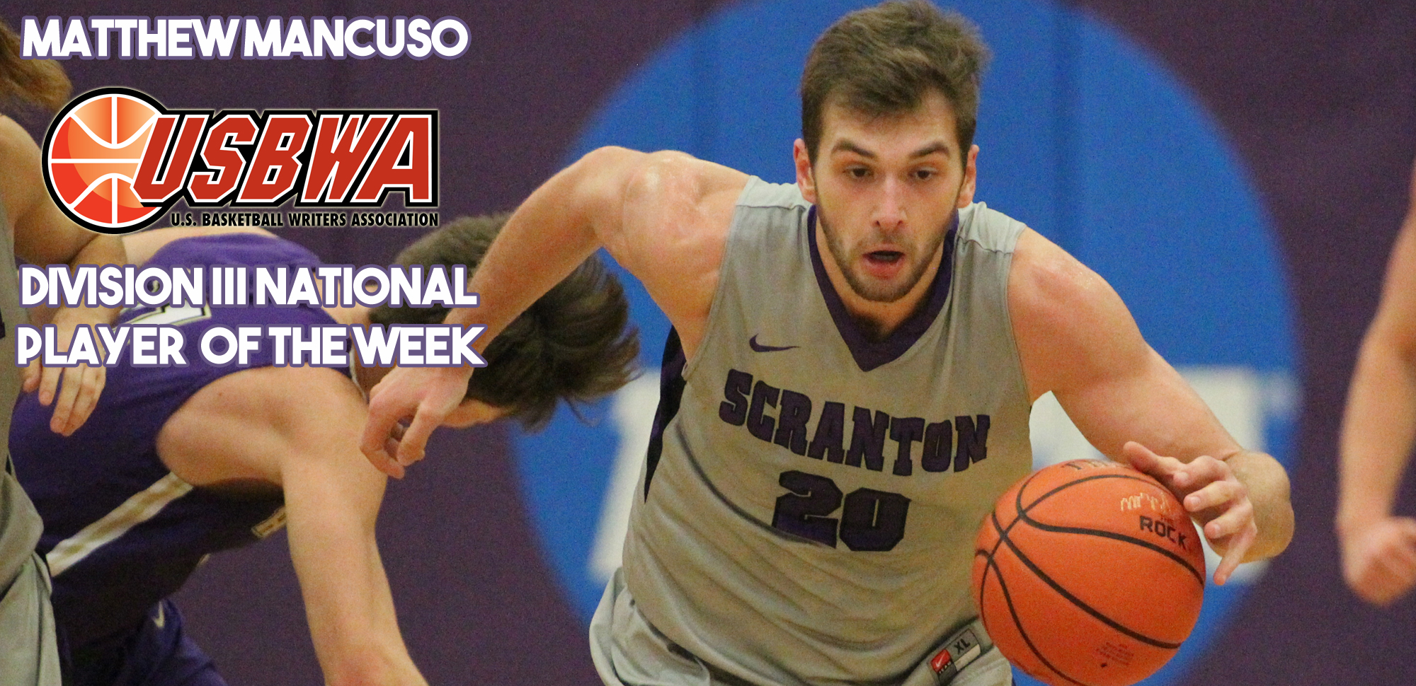 Senior Matthew Mancuso became the first player in program history to be named the USBWA Division III National Player of the Week on Tuesday.
