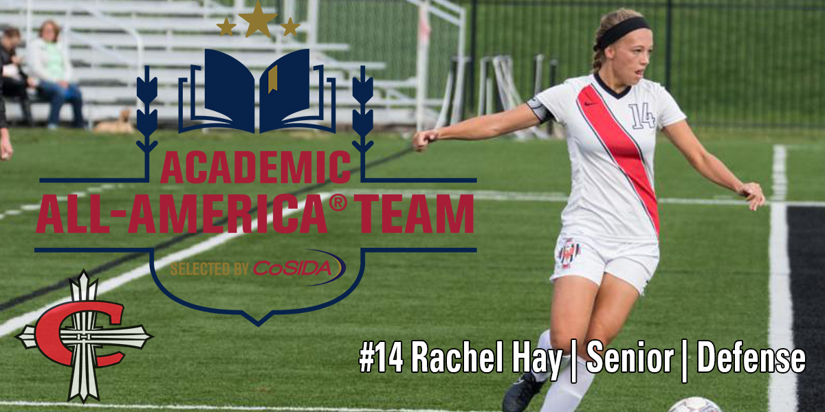 Rachel Hay (Sr./South Lyon) is the first women's soccer player to be named to the CoSIDA Academic All-America First Team