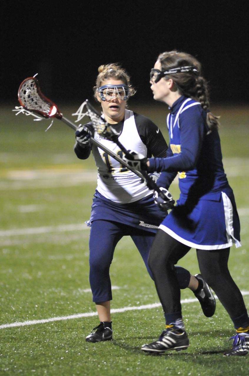 Courcy Nets Hat Trick, Langley Makes 14 Saves As Women's Lacrosse Drops 13-8 Non-League Decision To Nichols