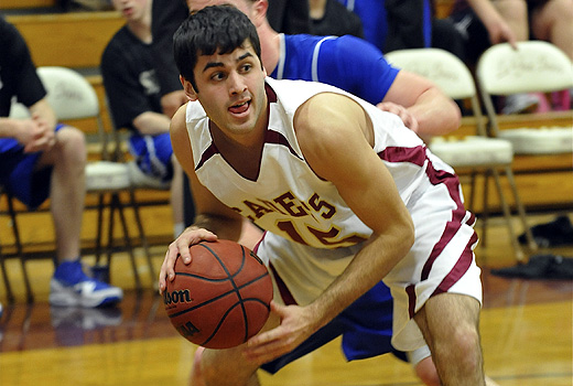 Men's Basketball: Cadets Edged by Saint Joseph's (Maine), 77-74