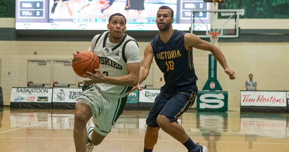 Men's basketball travels to Dinos for quarter-final series