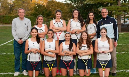 Women's Tennis Round Out Regular Season with 8-1 Win