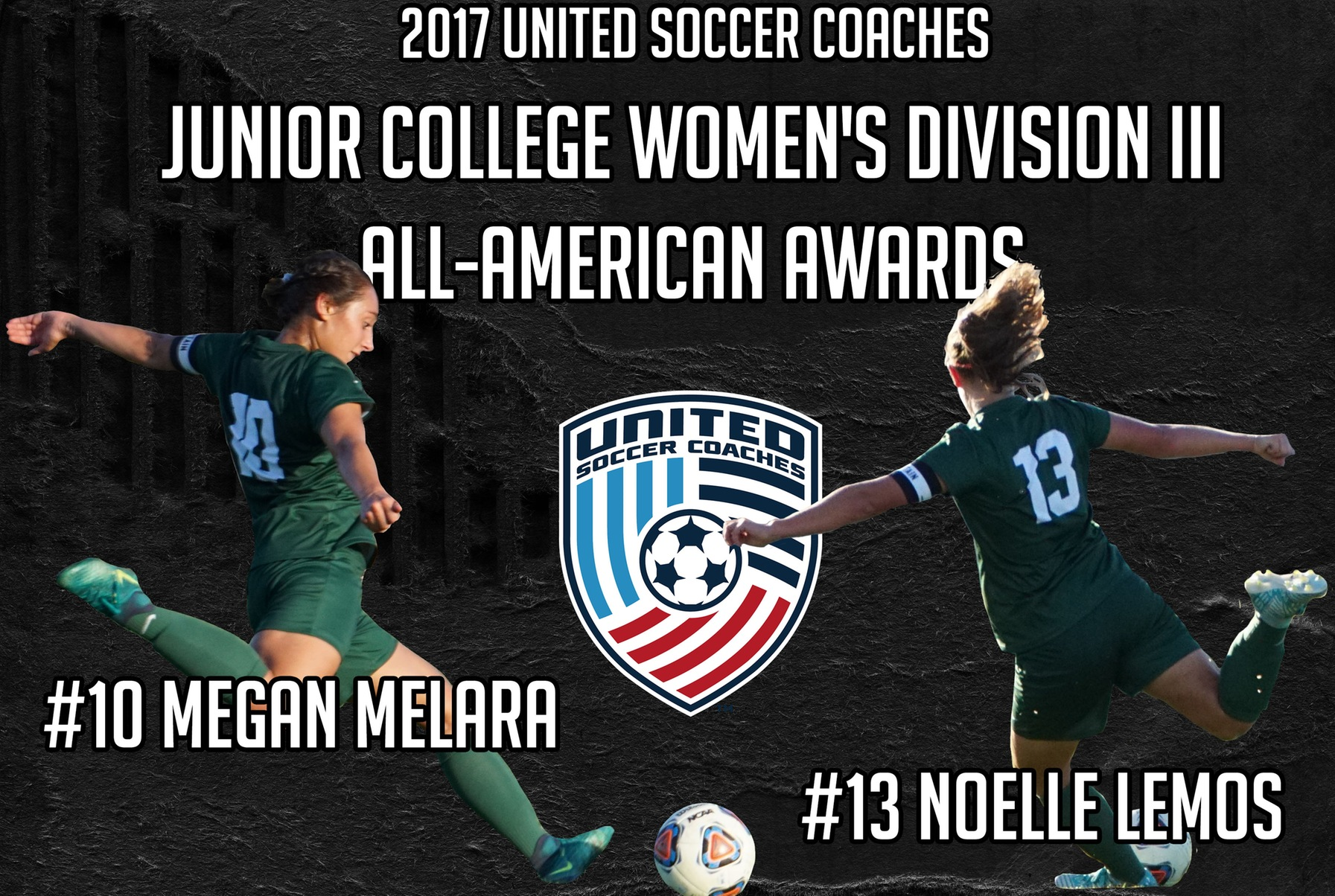 Lemos & Melara Named to United Soccer Coaches Junior College Women's Division III All-American Teams