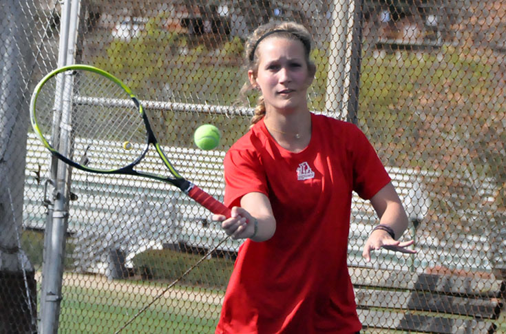 Women's Tennis: Panthers drop USA South match to visiting N.C. Wesleyan