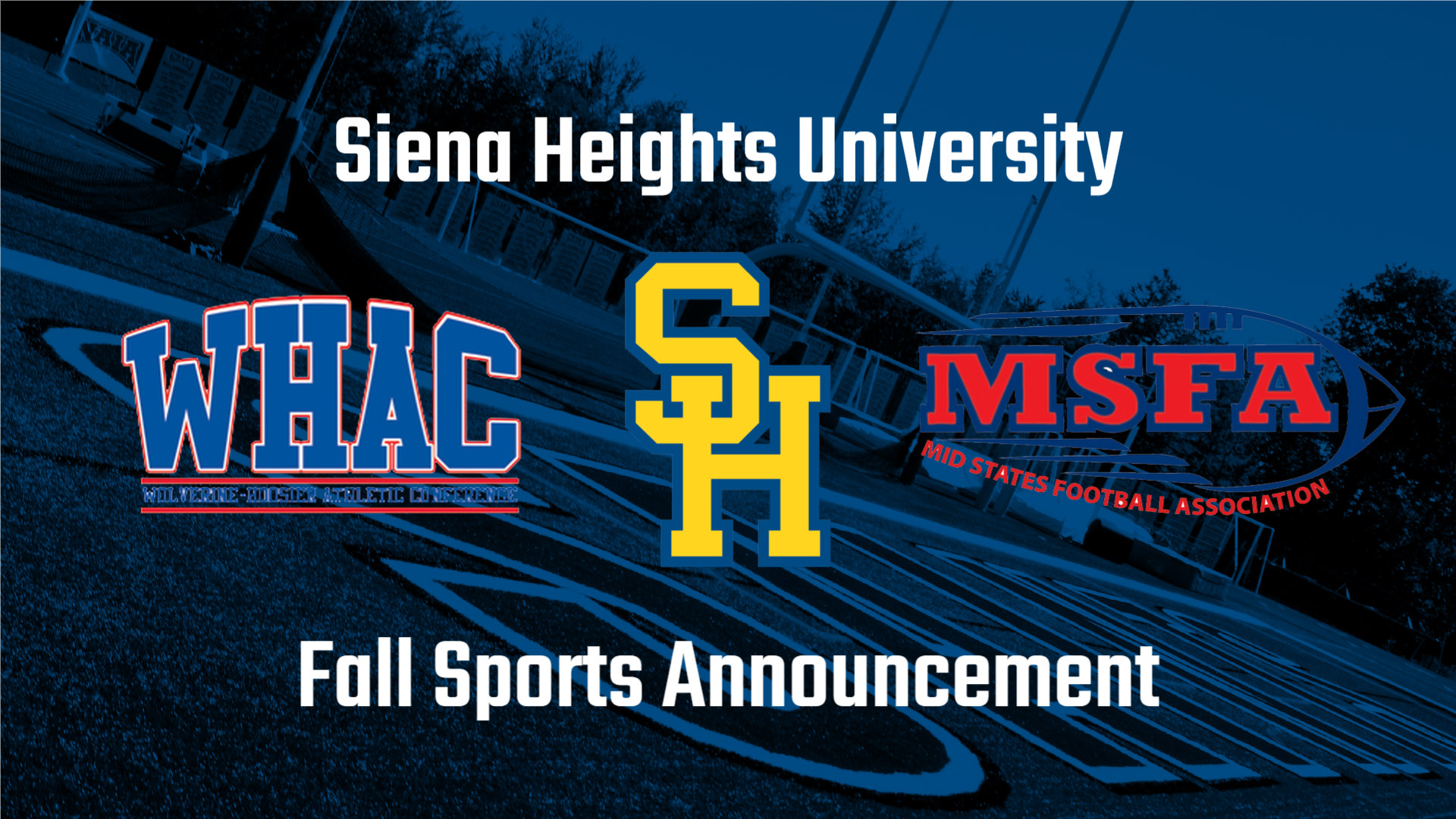 Siena Heights Approves Fall Competition for SHU Teams