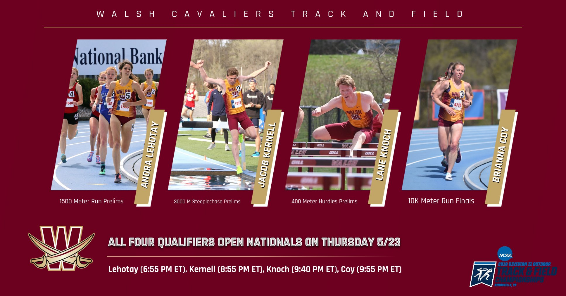 2019 NCAA D2 Outdoor National Championships Begin Thursday