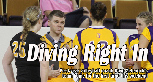 Diving Right In: First-year volleyball coach making immediate waves
