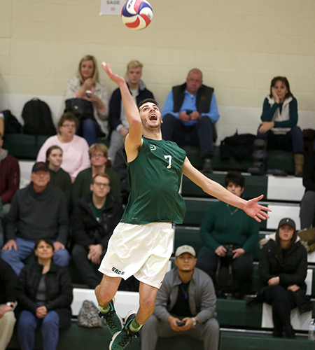 Sage Men's Volleyball Splits in Non-Conference Action