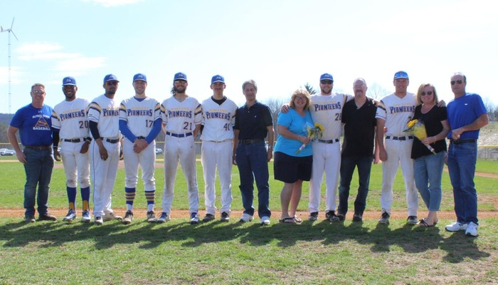 The senior class was honored in a pregame ceremony