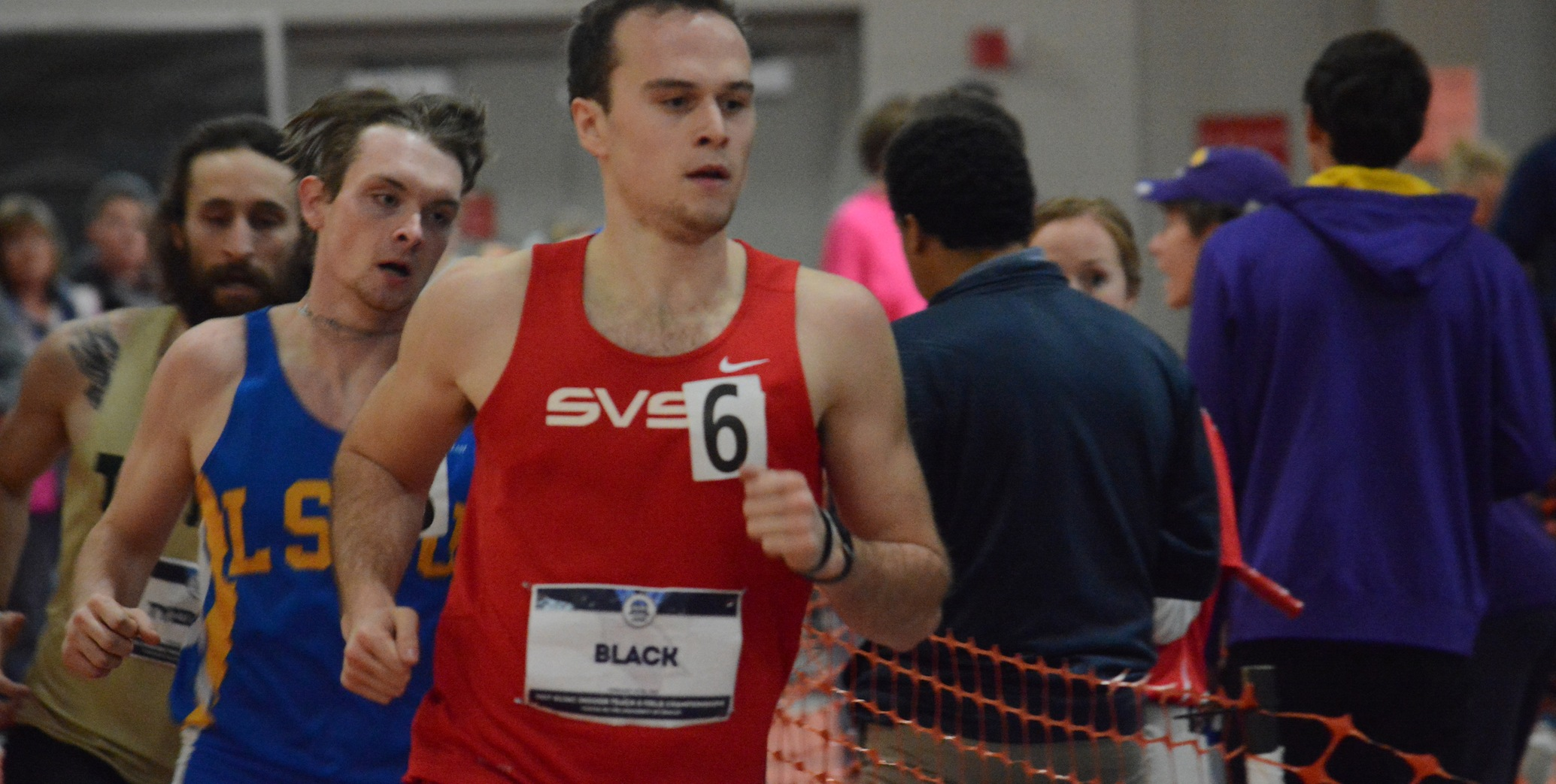 Sam Black finished second in the Heptathlon with a provisional mark of 5,032 points...