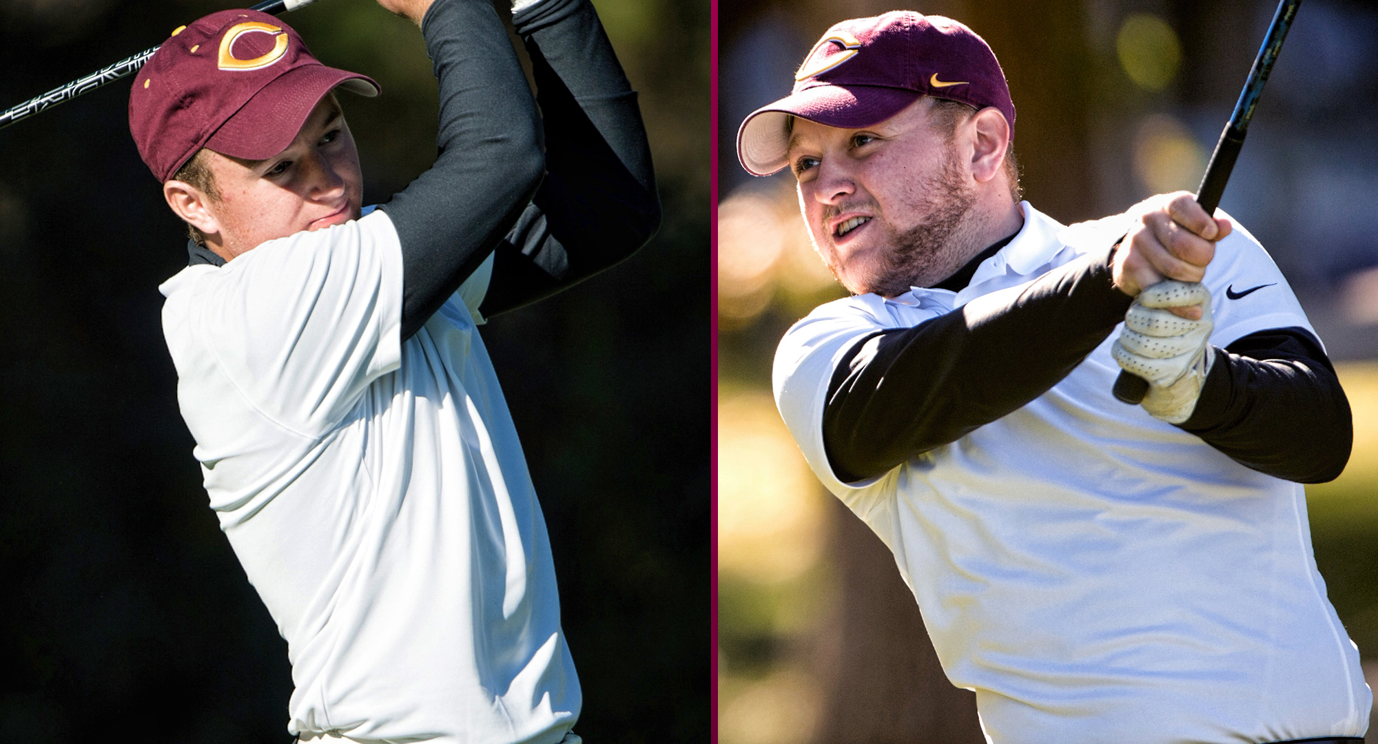 Blake Kahlbaugh (L) and Nathaniel Kahlbaugh both shot a two-day total 154 to lead the Cobbers at the St. John's Fall Invite.
