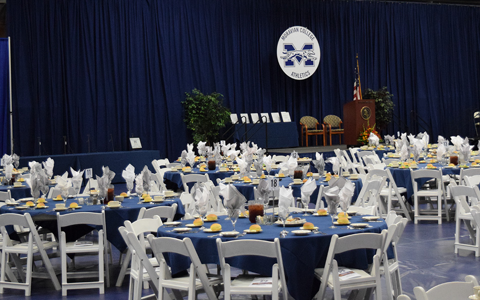 Johnston Hall set for the annual Hall of Fame Induction Ceremony and Robert Martin Herbstman Award Presentation.