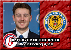 Jared Ward-Western New England, Men's Lacrosse: Offensive Player of the Week