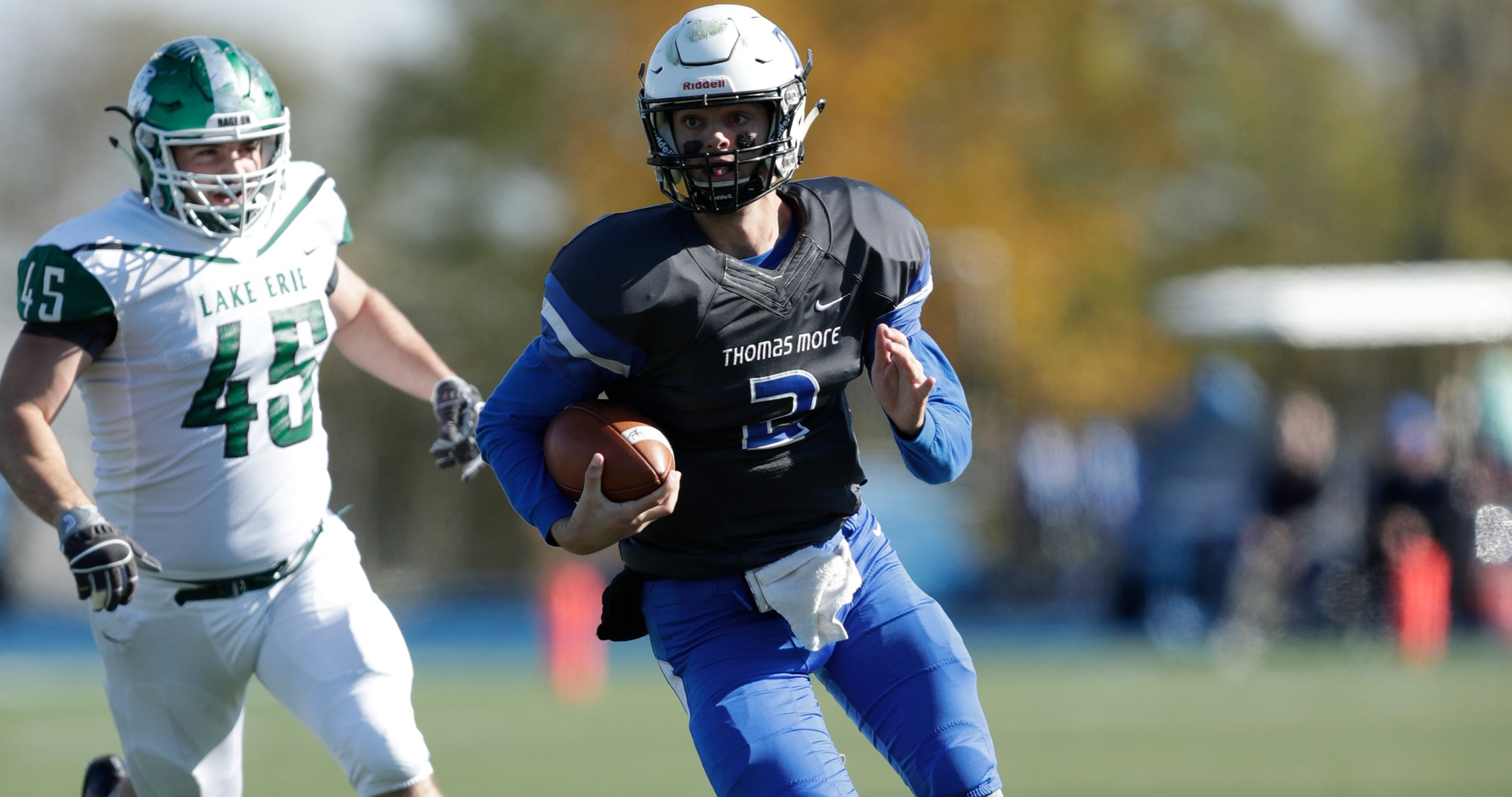 Thomas More Shuts Out Division II Lake Erie, 44-0