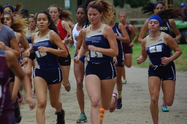 The Cerritos women's cross country team placed fourth at the SCC Championships