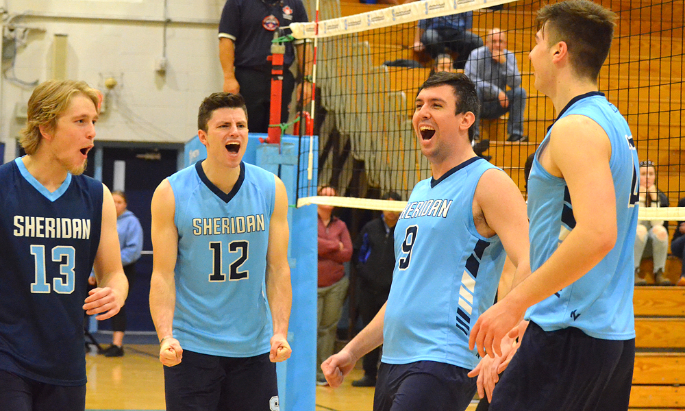 Men's volleyball cap first half with pair of home wins