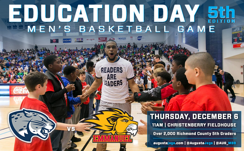 Augusta Men's Basketball Hosts Fifth Annual Education Day Game Dec. 6