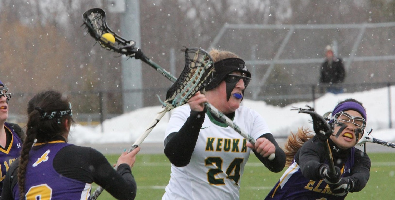 Abigail Wood (24) scored four goals for Keuka on Saturday -- Photo by Ed Webber
