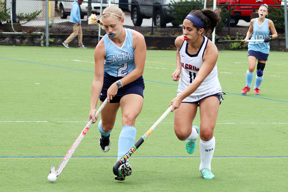 Taylor's hat trick leads Lasell Field Hockey past New England College