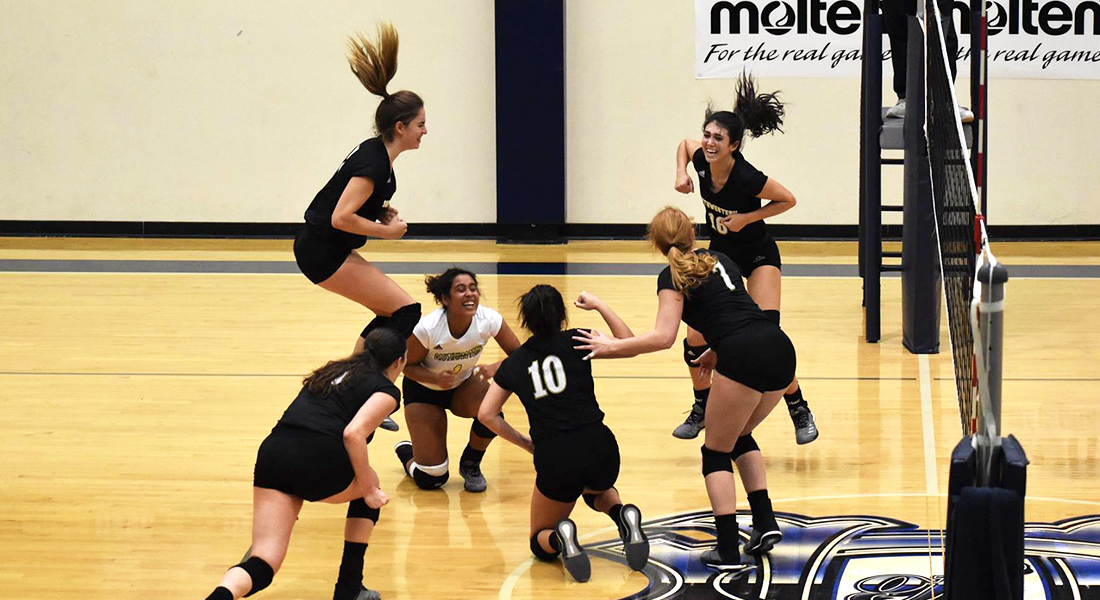 Volleyball Upsets No. 2 Seed Trinity To Advance To Championship Match