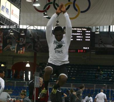 Lamarre Wins Long Jump at Ramapo