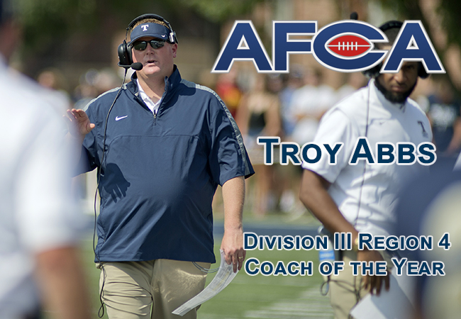 Head Coach Troy Abbs Named Regional Coach of the Year By AFCA