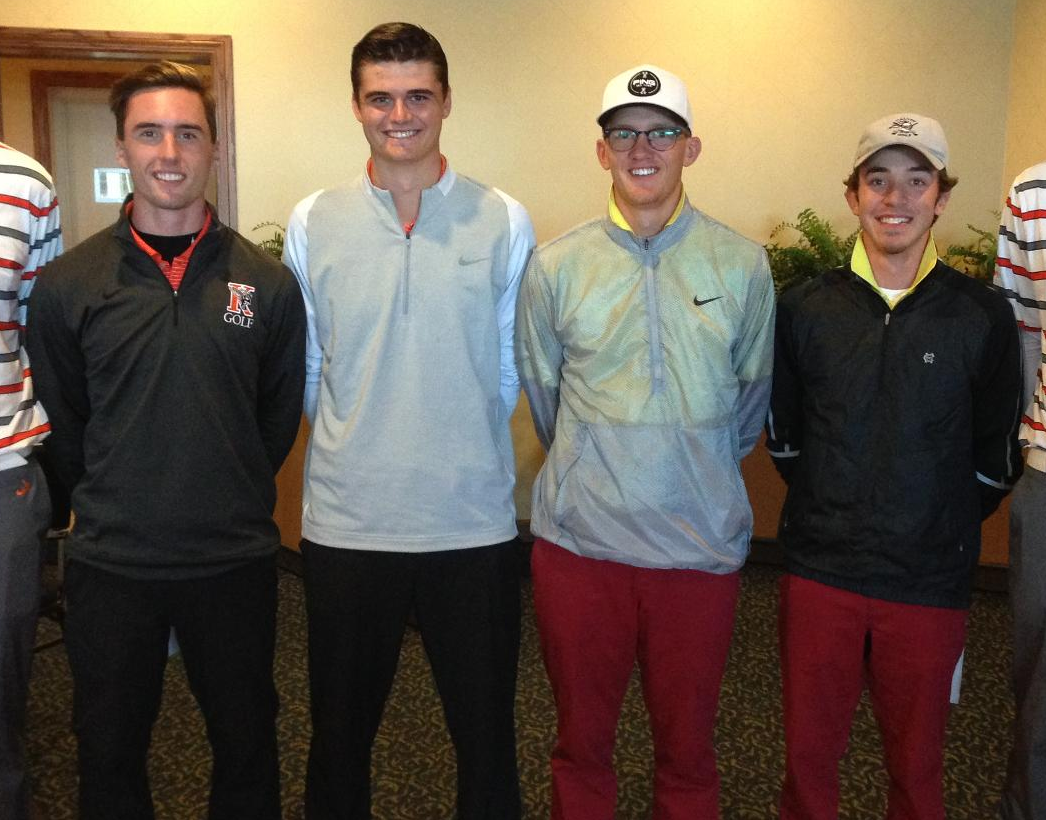 Men's Golf Places Second at MIAA Fall Finish