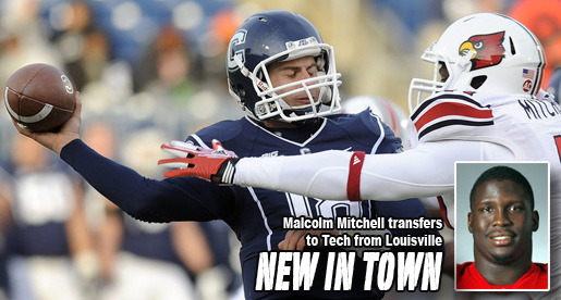 Football team adds Malcolm Mitchell, transfer from Louisville