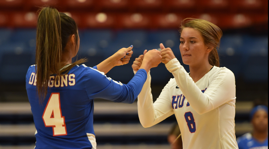 The Blue Dragon volleyball team travels to Colby to take on the unbeaten Trojans at 6:30 p.m. on Wednesday in Colby. (Casey Bailey/Blue Dragon Sports Information)