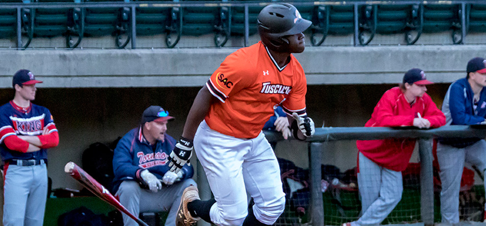 King outslugs Tusculum 12-10 in mid-week marathon