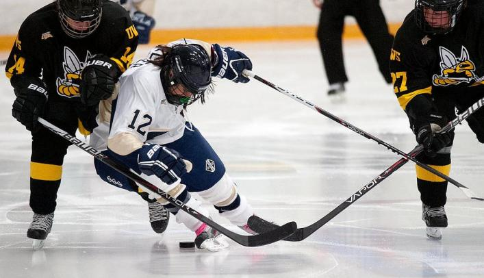 Blugolds Skate to Tie With Tommies