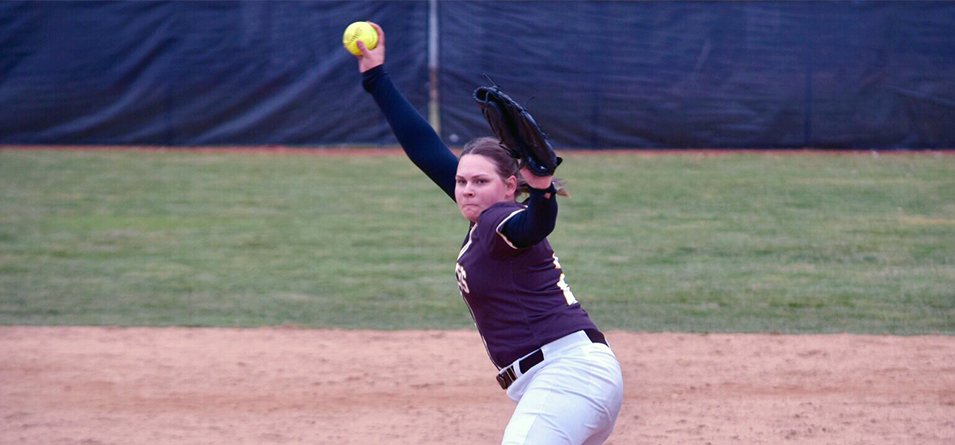 Ashley Matousek earned her first collegiate save in game two as she did not allow a run or hit in two innings. (Photo Courtesy of Jeff Boledovic)