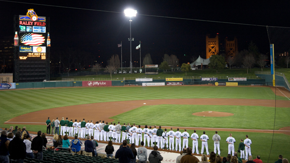 BASEBALL HOSTS UC DAVIS TUESDAY NIGHT AT RALEY FIELD