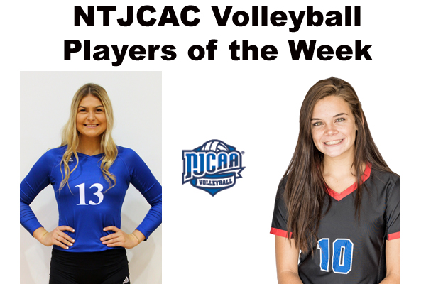 NTJCAC Volleyball Players of the Week (Oct. 30)