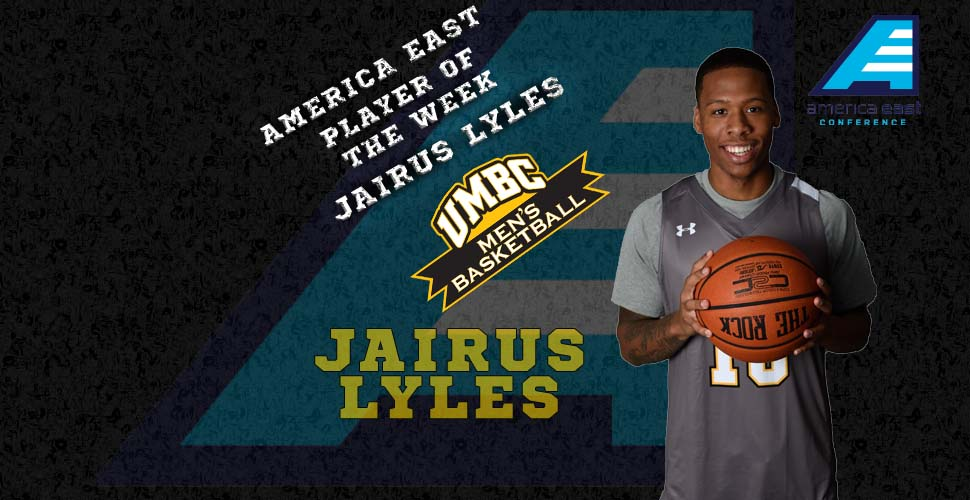 Jairus Lyles Named America East Player of the Week