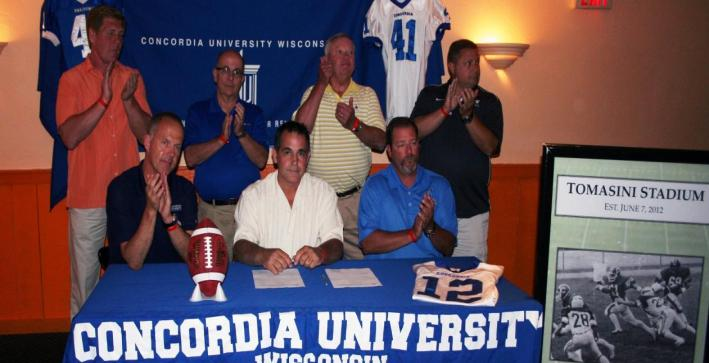Tomasini inks major football stadium gift
