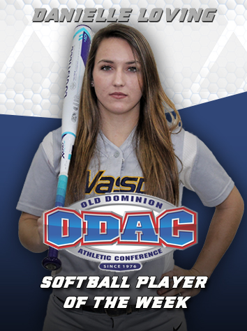 Danielle Loving Named ODAC Softball Player Of The Week