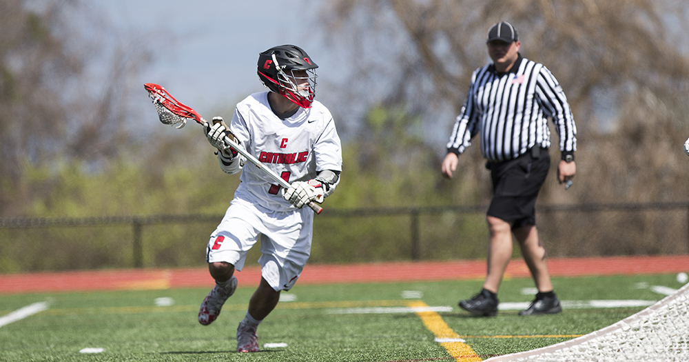 Keith Powers Catholic Past Moravian on Senior Day, 13-7