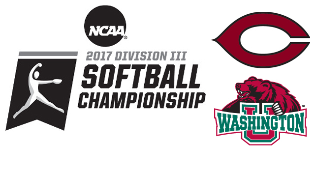 Washington University and Chicago Chosen to Compete in 2017 NCAA Division III Softball Championship
