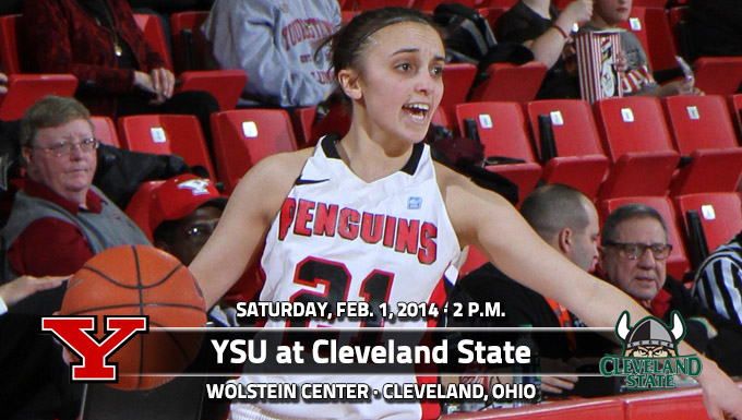 YSU Starts Road-Heavy February at Cleveland State Saturday