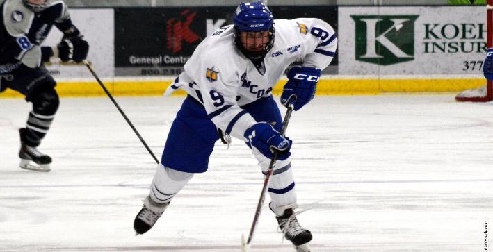 Shilts nets hat trick, powers Men's Hockey to 8-2 win over Finlandia
