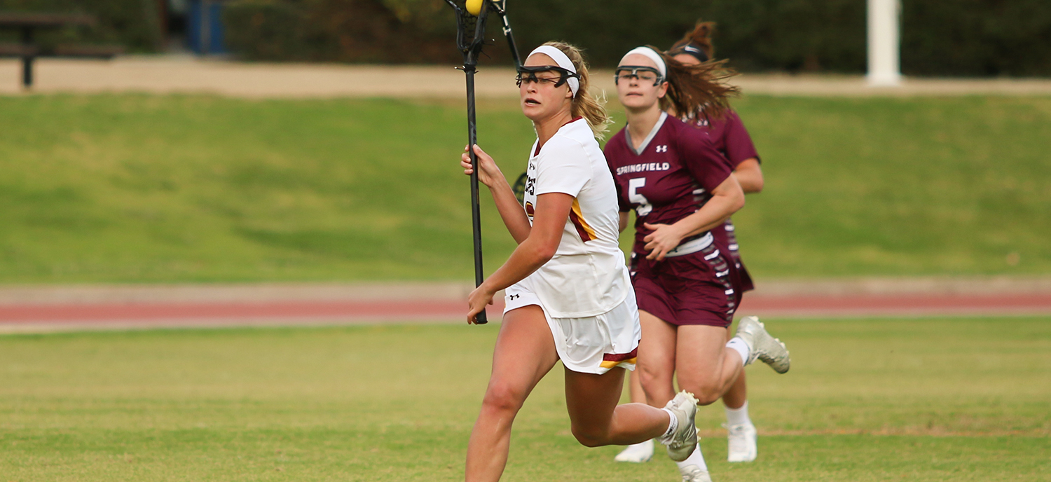 Emily Cohen was one of five players to score multiple goals in a 14-9 victory for CMS over Colorado College. (photo credit: Alisha Alexander)