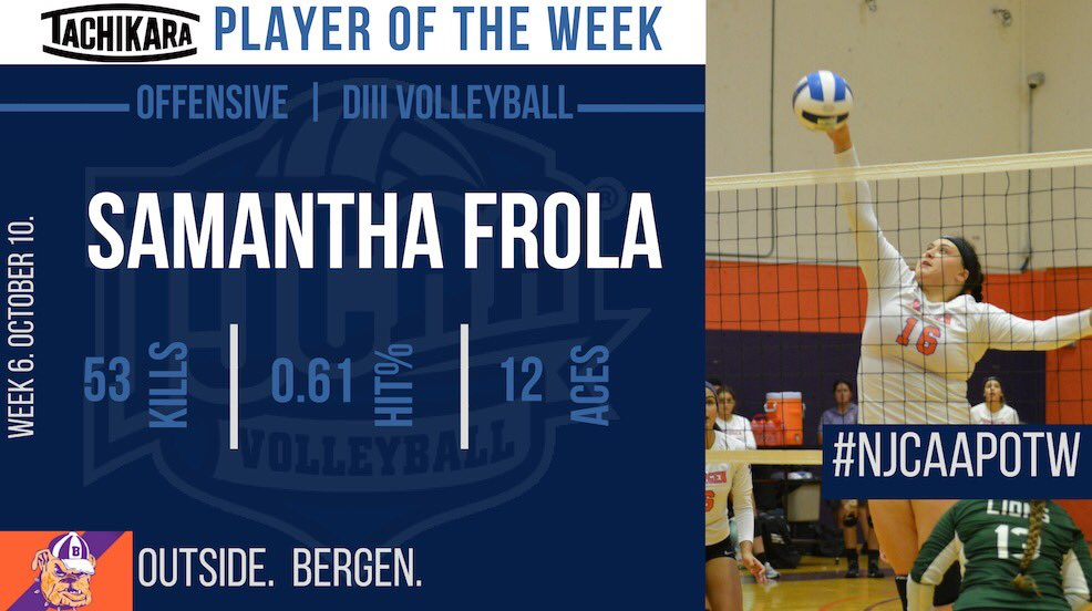 Samantha Frola National Offensive Player of the Week (Oct.1-Oct.7)