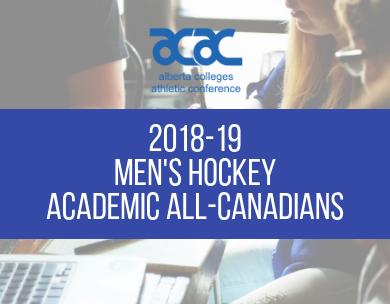 2018-19 ACAC Men's Hockey Academic All-Canadians