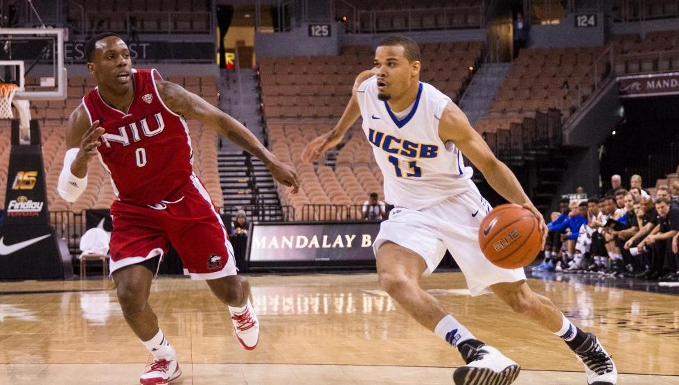 DaJuan Smith had four points, three assists and three rebounds in UCSB's 70-63 win over Northern Illinois in the quarterfinals of the Vegas 16. (Photo by Jeremy Rincon)